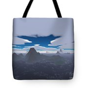 Misty Archipelago Tote Bag