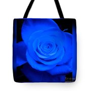 Misty Blue Rose Tote Bag