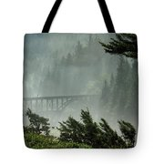 Misty Bridge At Heceta Head Tote Bag