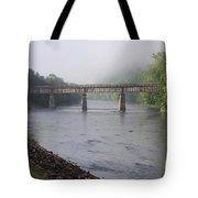 Misty Bridge Tote Bag