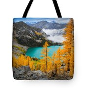 Misty Colchuck Lake Tote Bag