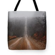 Misty Country Road Tote Bag