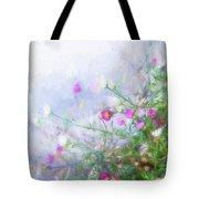 Misty Floral Spray Tote Bag