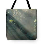 Misty Greenery Tote Bag