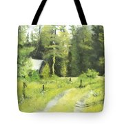 Misty Greens Tote Bag