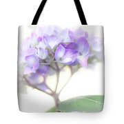 Misty Hydrangea Flower Tote Bag