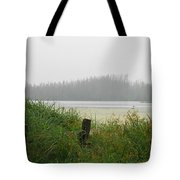 Misty Lake Tote Bag