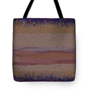 Misty Moisty Landscape Abstraction Tote Bag