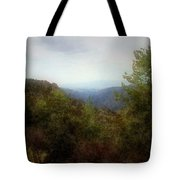 Misty Morn In The Mountains Tote Bag
