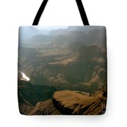 Misty Morning At The Grand Canyon  Tote Bag