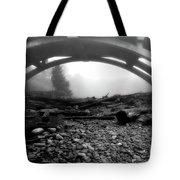 Misty Morning In Black And White Tote Bag
