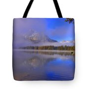 Misty Morning On A Canoe Tote Bag