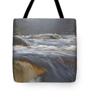 Misty Morning On The River Tote Bag