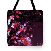 Misty Morning-purple And Red Tote Bag