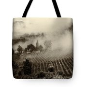 Misty Morning Tote Bag by Silvia Ganora