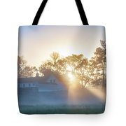 Misty Morning Sunrise - Valley Forge Tote Bag