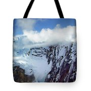 Misty Mountain Flat Top Tote Bag