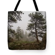 Misty Mountain Path Tote Bag