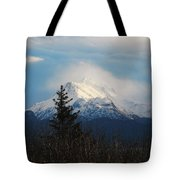 Misty Mountain Top Tote Bag