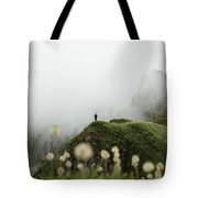 Misty Mountain View Tote Bag