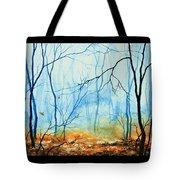 Misty November Woods Tote Bag