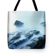 Misty Ocean Tote Bag