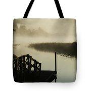 Misty Oregon Morning Tote Bag