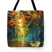 Misty Park Tote Bag