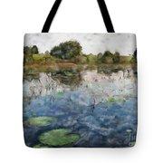 Misty Pond Tote Bag