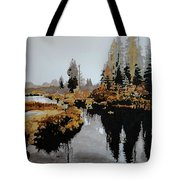 Misty Pond Tote Bag