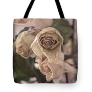 Misty Rose Tinted Dried Roses Tote Bag