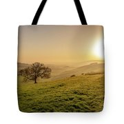 Misty South Downs Way Tote Bag