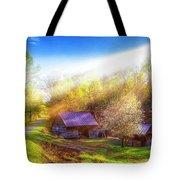 Misty Spring Morning Tote Bag