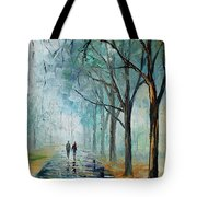 Misty Stroll Tote Bag