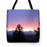 Misty Sunset Tote Bag