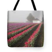Misty Tulip Fields Iv Tote Bag