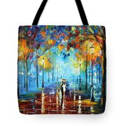 Misty Vibrations Tote Bag