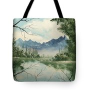 Misty View Tote Bag