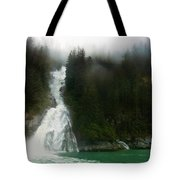 Misty Waterfall  Tote Bag