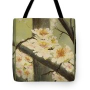 Mistymorningblossom Tryptic Tote Bag