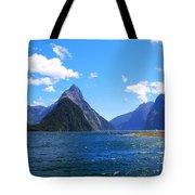 Mitre Peak In Milford Sound New Zealand Tote Bag
