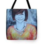 Mix Media Portrait Tote Bag