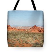 Mix Media Valley Of Fire  Tote Bag