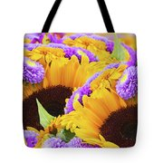 Mixed Autumn Flowers Tote Bag