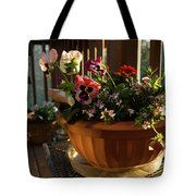 Mixed Basket, Balcony Garden, Hunter Hill, Hagerstown, Maryland, Tote Bag