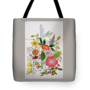 Mixed Floral. Tote Bag