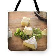 Mixed French Cheese Platter With Bread Tote Bag