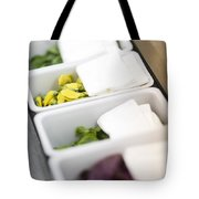 Mixed Fresh Herbs In Kitchen Interior Tote Bag