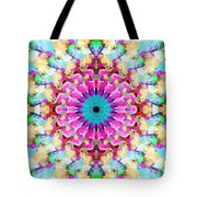Mixed Media Mandala 9 Tote Bag