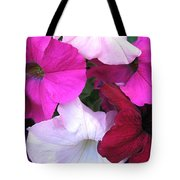 Mixed Petunias Tote Bag